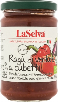 LASELVA Ragù di verdure a cubetti - Tomatensauce mit Gemüsewürfeln, 280g