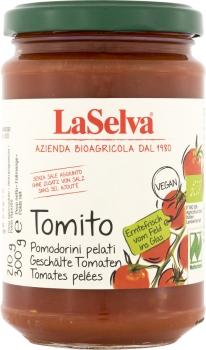 LASELVA Kleine geschälte Tomaten-Tomito Pomodorini pelati, 300g