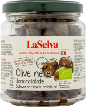 LASELVA Schwarze getrocknete Oliven, entsteint 120g