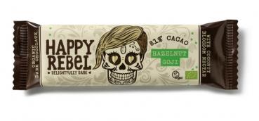 LOVECHOCK Happy Rebel Riegel 81% Cacao, Haselnuss Goji 38g
