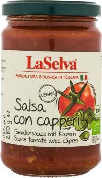 LASELVA BIO Salsa con capperi - Tomatensauce mit Kapern 280g