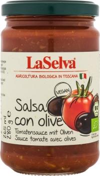 LASELVA BIO Salsa con Olive - Tomatensauce mit Oliven 280g