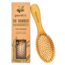 PANDOO Bambus Haarbürste mit Naturborsten