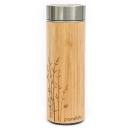 PANDOO Bambus Thermobecher 360ml inklusive Teesieb