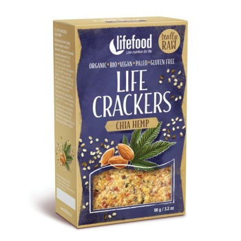 LIFEFOOD Life Cracker Chia Hanf 90g
