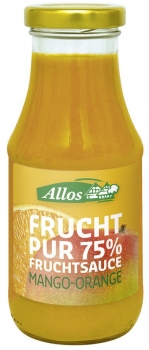 ALLOS Frucht Pur 75% Fruchtsauce Mango-Orange, 250ml
