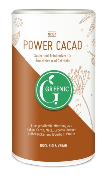 GREENIC Power Cacao Superfood Trinkpulver Mischung, 175g