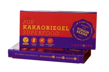 CHOCQLATE Superfood Kakaoriegel Pur 35g