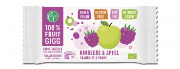 GREENIC Himbeere&Apfel 100% FRUIT GIGG, 10g - Restbestand