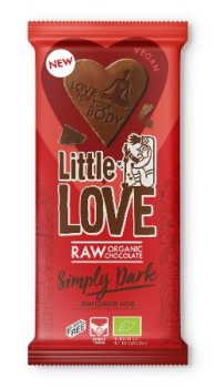 LOVECHOCK Tafel Little Love Simply Dark, 65g
